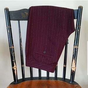 THE LIMITED Burgundy Gold Pinstripe CASSIDY FIT 4